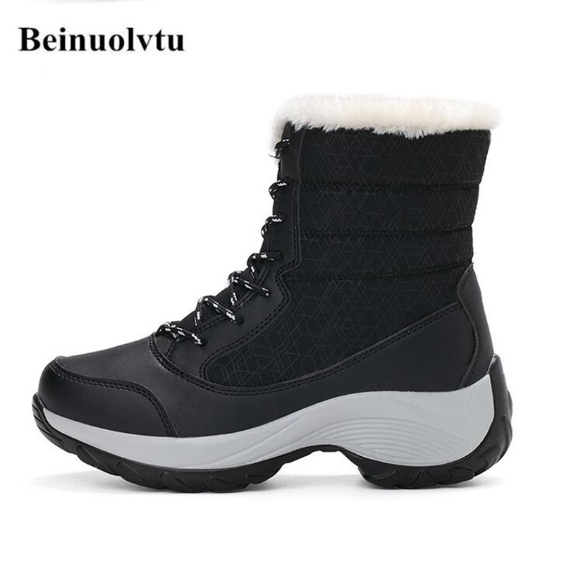 2017 Winter Sneakers for Women Warm shoes High Sneakers Girls Platform Running shoes Snow Sneakers boots 35-41<br>