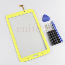 original quality Repair part For Samsung Galaxy Tab 3 7.0 Kids T2105 Wifi Yellow touch Screen digitizer Glass with tools