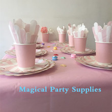 Baby Pink Party Kit Baby Pink with Foil Gold Girl Party  Idea for Present Party Table Kit Baby Shower Favor
