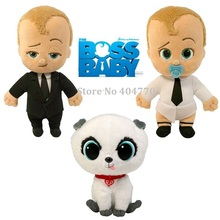 2017 New Movie The Boss Baby Born Leader Plush Toy Suit Diaper baby Pet Stuffed Cartton Doll Toys(China)