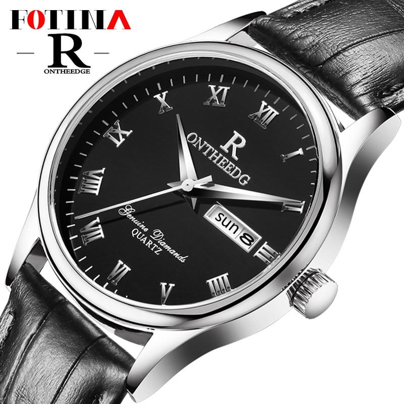 Fotina Top Brand R Watch Men Fashion Leather Business Quartz Men Watch Date Week Waterproof Black Male Watches Relogio Masculino<br><br>Aliexpress