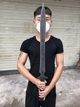 HandMade Very Sharp Strong Sword Katana Hunting Knife Sharpen Spring Steel Blade Full Tang(China)