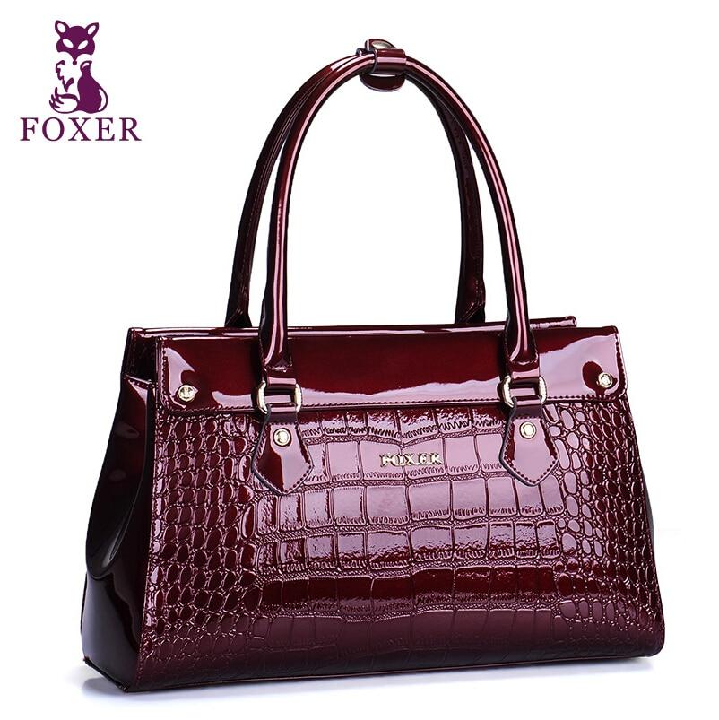 FOXER Brand bag 2014 new fashion leather bag crocodile handbag shoulder bag lady /bags handbags women famous brands<br><br>Aliexpress