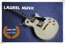 100% Real Pictures Cream LP Custom Electric Guitar Ebony Fretboard Custom Guitar & Kits Available