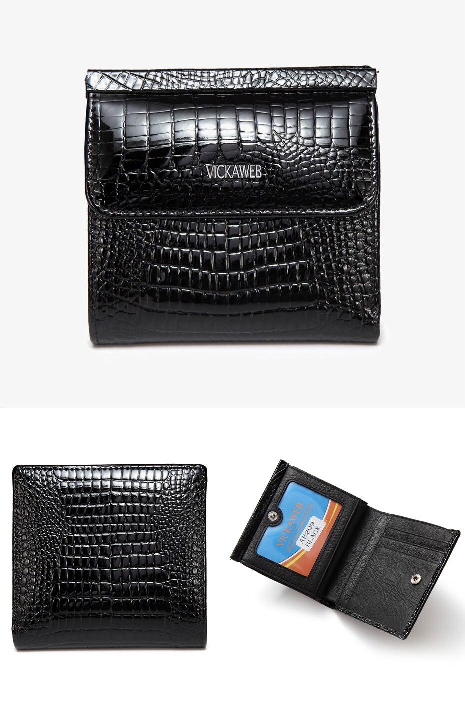 VICKAWEB Mini Wallet Women Genuine Leather Wallets Fashion Alligator Hasp Short Wallet Female Small Woman Wallets And Purses-AE209-018