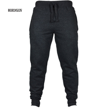 HIRIGIN Men's Joggers 2017 Brand Male Trousers Casual Pants Sweatpants Jogger Black Casual Elastic cotton Fitness Workout pants(China)
