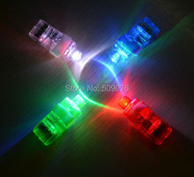 Free shipping 24pcs/lot led finger light light up toys led finger rings flashlight Torches Birthday party New(China)