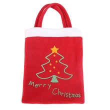 New arrival Cloth Christmas supplies hangbag 2016 Designer Xmas Decor Wedding Party Candy Gift Christmas Bag mochila feminina