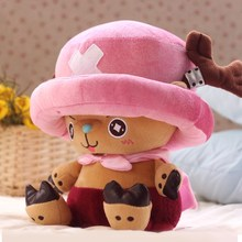 100% Official 33CM One Piece Plush Toys Chopper Plush Doll Anime Cute Toy, Chopper Doll(China)