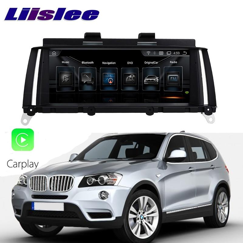 LiisLee Car Multimedia GPS Audio Hi-Fi Radio Stereo For BMW X3 F25 2011~2013 Original NBT Style Navigation NAVI