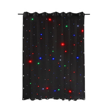 TSSS 3 x 2m LED Stage Star Cloth Matrix Backdrop Horizon DMX8CH Curtain Retardant for Wedding Christmas Party Club Show(China)