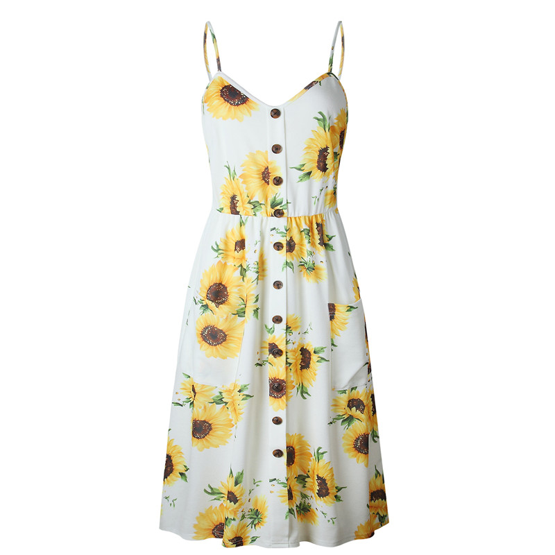Summer 2018 Strap Print Floral Dot Long Boho Bohemian Beach Dress Women Sundress Sexy Casual Loose Elegant Vintage Ladies Dress 14