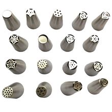 Facemile Many Style Russian Tulip Stainless Steel Icing Piping Nozzles Pastry Decorating Tip Fondant Gift Cupcake Decorator