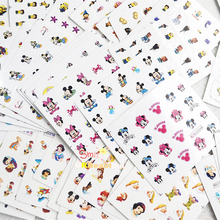 77 sheets Mixed Cartoon Designs Water Transfer Nail Art Stickers Beauty Wraps Foil Polish Decals DIY Decorations for Nails BEM51