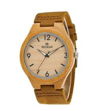 2017 Popular Simple Wood Watches Brown Men Women Original Wooden Bamboo Wristwatch Handmade Clock