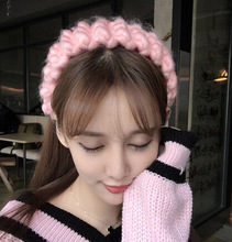 NEW Retail Crochet Headband colorful handmade Knit hairband Winter Warm  elastic Headwrap Drop shipping