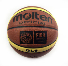 Offical Standard Size 6 Molten Women Basketball Balls GL6 High Quality PU Leather Outdoor Indoor Basketball Ball Gift Pin&Bag(China)