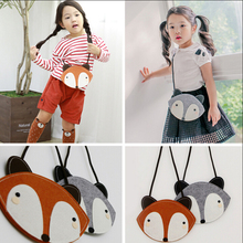 1PCS Girls Mini Lovely Children one shoulder bag coin purse cute fox design girls messenger bag baby accessories(China)