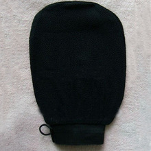 Black morocco hammam scrub mitt,magic peeling glove,exfoliating bath gloves(China)