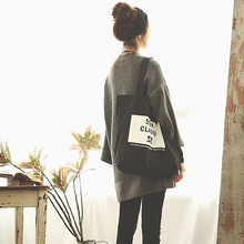 Shopping Bags Female Bag Thick Canvas Bag Letter Hand The Bill of Lading Shoulder Bag Is Environmental Protection Bag Contracted