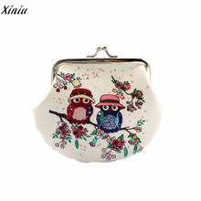 2017 New Owl design Women coin purse small pouch Female zero wallet hand bag Lady clutch change purse key package