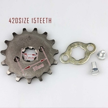 420-15T 17mm Front Sprocket 420 Size 15 Teeth for Motorcycle ATV Dirtbike(China)