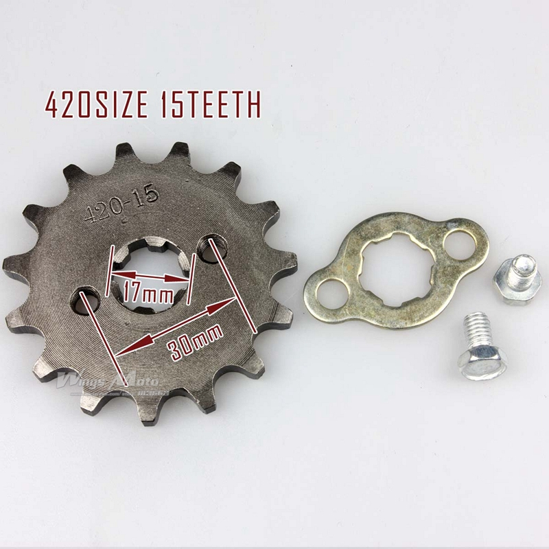 420-15T 17mm Front Sprocket 420 Size 15 Teeth for Motorcycle ATV Dirtbike(China (Mainland))
