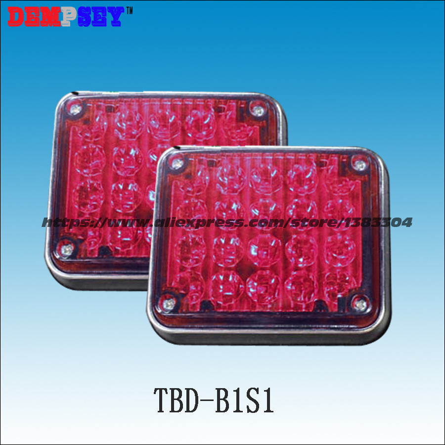 Dempsey 12V/24V DC LED Surface square mount warning light for ambulance/fire fighter truck/tractor(TBD-B1S1)<br>
