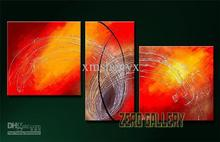 Free shipping! Free shipping 3 pieces Abstract Oil Painting Canvas Dining room cafe Entertainment Home office decoration(China)