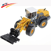 Alloy 1:50 Forklift Loader Truck Adjustable Fork Diecast Model Collection Toy