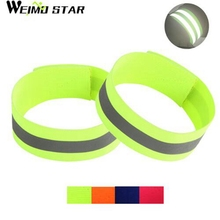 Buy 1 Pairs Weimostar Cycling Reflective Strip Warning Bike Safety Tape Outdoor Bicycle Bind Wristband Pants Band Leg Strap 4-Colors for $2.84 in AliExpress store