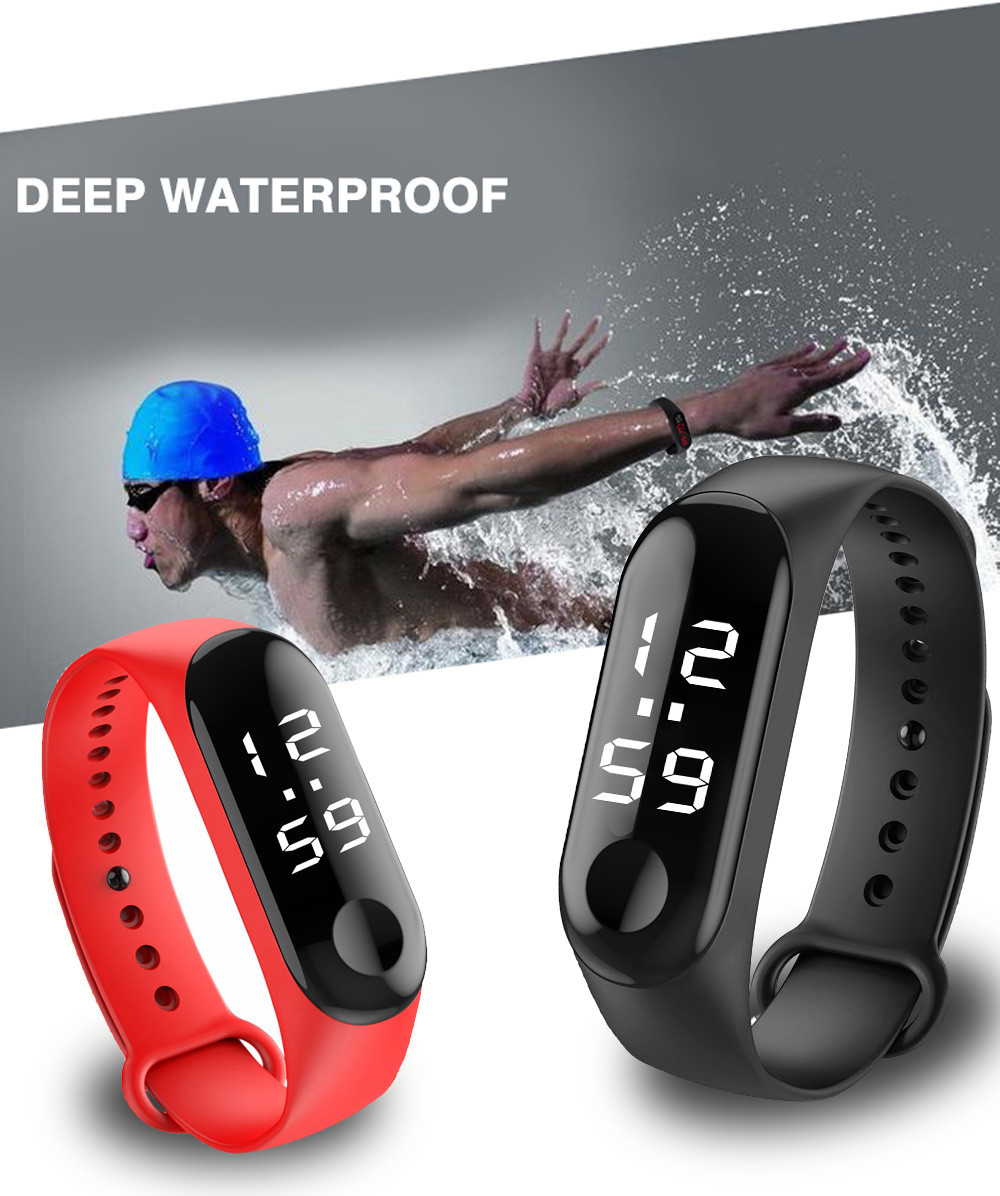 Sports Watch Digital Silicone Unisex Band Men Women Relogio LED Style Montre Infantil title=