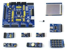 Modules ATMEL AVR Development Board ATmega128A-AU 8-bit RISC AVR ATmega128 Development Board Kit+ 9 Accessory Kits =OpenM128 Pac