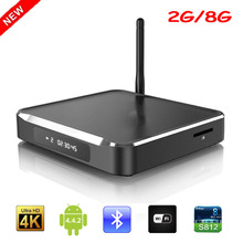M10 Android TV Box Amlogic S812 Quad Core Android 4.4 2G/8G 2.4GHz WiFi Bluetooth 4.0 H.265 Smart Media Player HD 4K Set-top Box(China)
