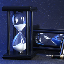 30 Minutes 5.5 inch Colorful Hourglass Sandglass Sand Clock Timers Wooden Frame Creative Gift Modern Home Decorations Ornaments