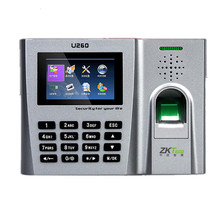 TCP/IP 125Khz RFID Card and Fingerprint Time Attendance System ZK U260 Employee Attendance Terminal With EM Card & Fingerprint(China)