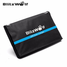BlitzWolf High Speed 20W 3A Foldable Portable Solar Power Bank Powerbank Cell USB Solar Panel Charger with Power3S SunPower