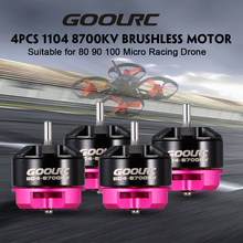 GoolRC Original RC Drone Motor 4pcs 1104 8700KV 2S Brushless Motor CW CCW for 80 90 100 Mini Micro FPV RC Racing Quadcopters(China)