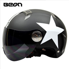 BEON fashion electric car scooter helmet summer bell helmet fashion harley helmet knight equipment(China)
