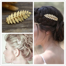 New fashion hairwear gold color leaf hairpin hair combs hair sticks barrettes gift for women girl H371