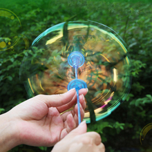 1Pc Funny Soap Bubble Colorful Shook Stick Blowing Bubbles Play Outdoor Activety Toy Amused Toys Gifts for Children Kids Baby(China)
