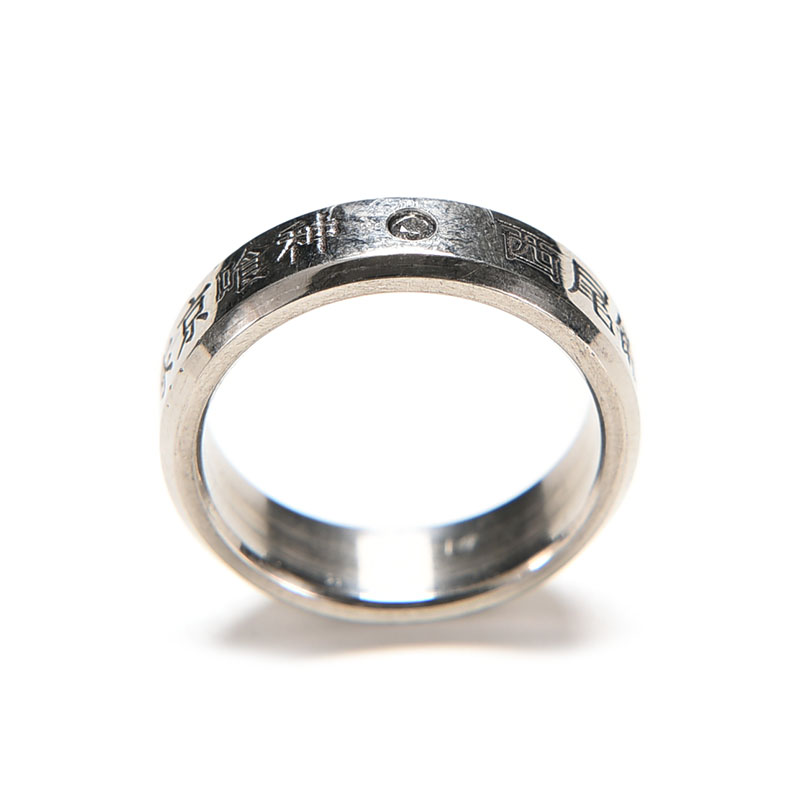 1PC Fashion Cosplay Finger Rings Anime Tokyo Ghoul Ken Titanium Steel Ring Without Rope