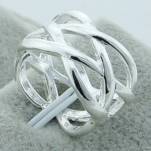 Romantic 925 Silver Ring Wholesale Affordable Party Accessories Women Jewelry Free Shipping Cheap Fashion Bird Nest like