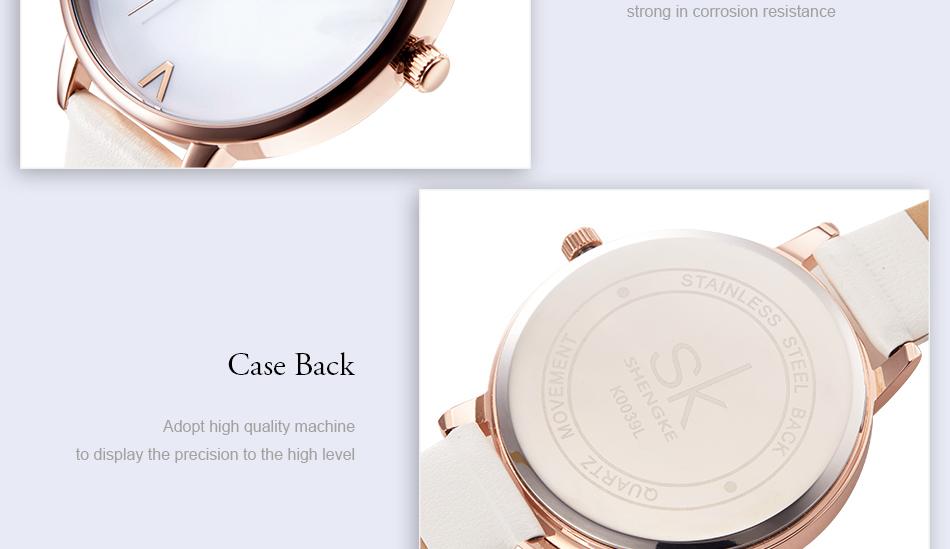 ساعة نسائية حزام جلد أنثى كوارتز الوان جميلة 18