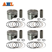 AHL 4 Sets Bore 48.5mm Piston & Piston Ring Kit for YAMAHA FZR250RR ZEAL 250 3LN Piston and Rings and Clips(China)
