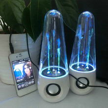 2016 New LED Dancing Water Music Fountain Light Speakers for PC Lapto for iPhone iPad4 iPod  hot new