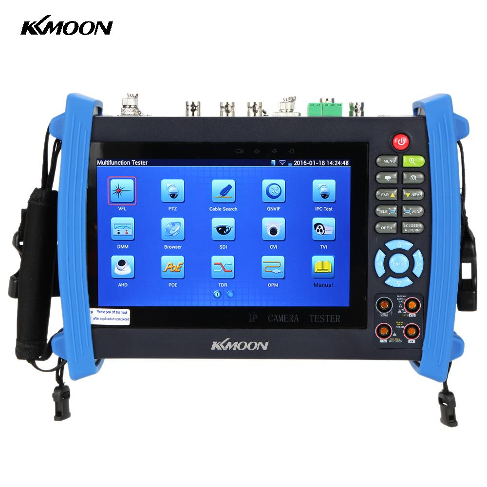 "KKmoon 7"" IP Camera Tester IPC-8600MOVTSADH 1080P Touch CCTV IPC Tester PTZ Control WIFI Onvif Monitor Tester AHD Camera Test(China)"