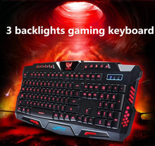 Usb wired backlight Keyboard Professional Gaming Keyboard LOL Dota2 Mechanical Sense key boards for PC Computer(China)
