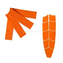 9Pcs Orange Diamond Grooved Non-slip EVA Surf SUP Surfboard Kiteboard Skimboard Full Deck Grip Traction Pads + 4Pcs Tail Pads