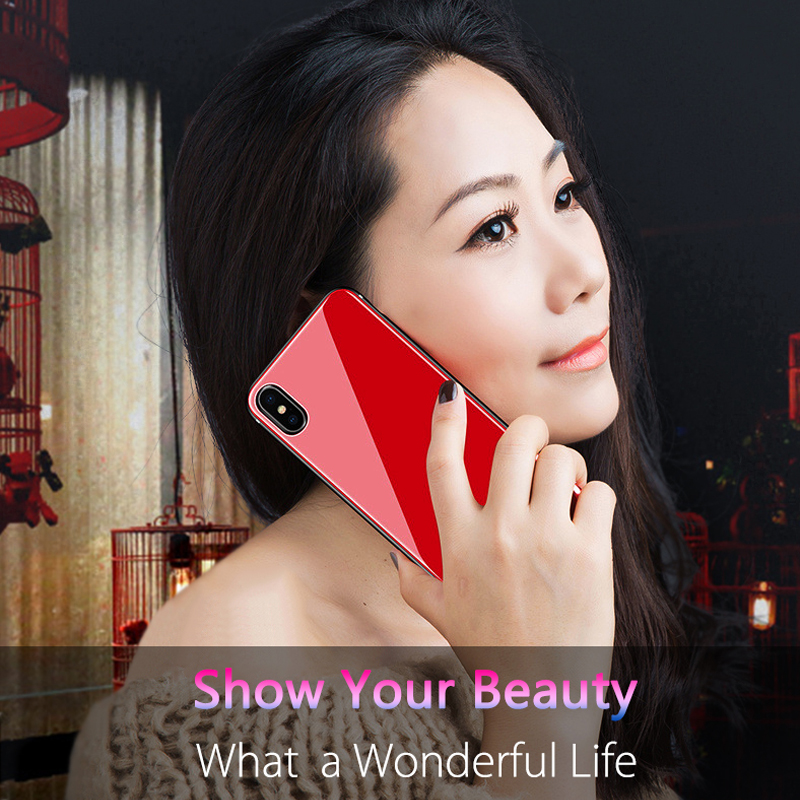Kiitoo Luxuxy Glass Case For iPhone X 8 7 6 6s Plus Mobile Phone Back Cover  Case -8
